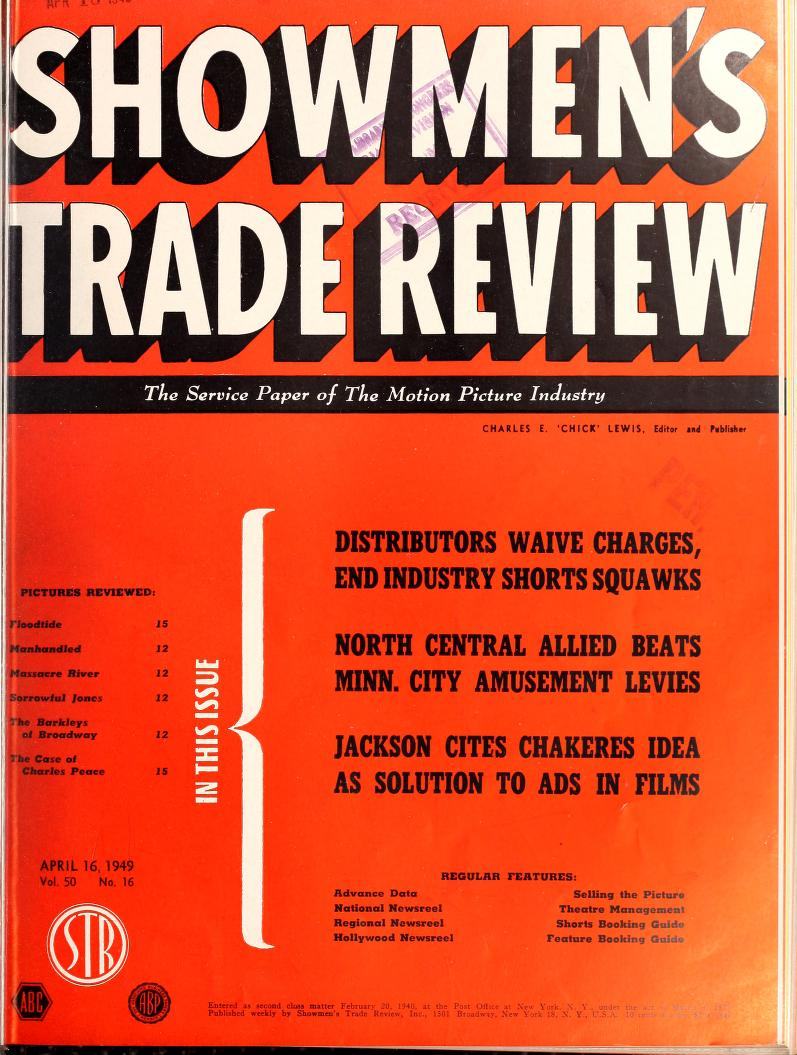 cover of the magazine showmen's trade review